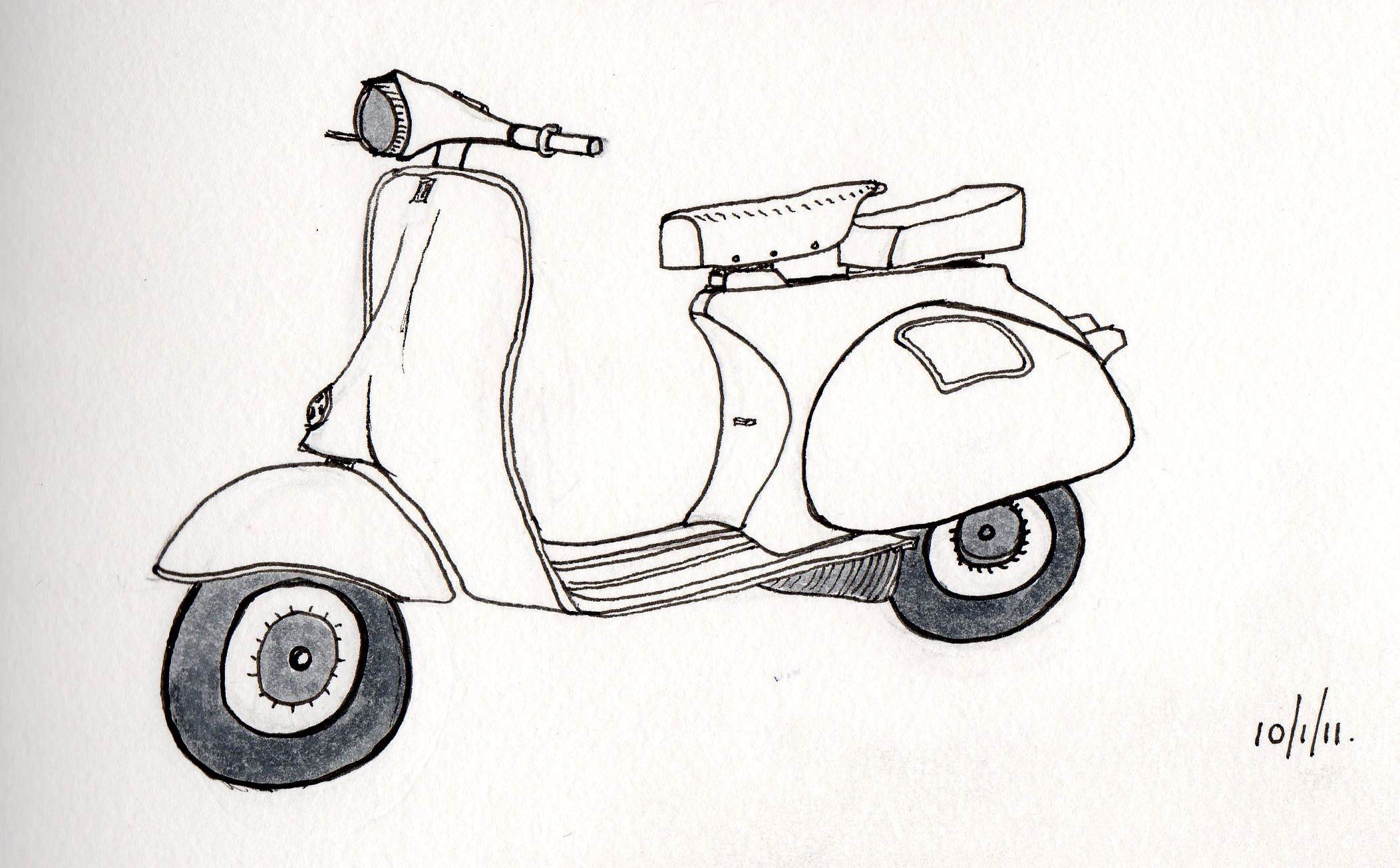 classic design the vespa usual bollocks