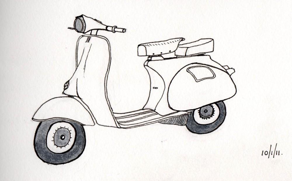 Classic design . . . the Vespa