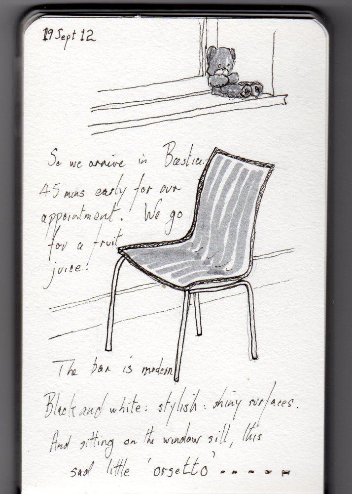 Chair & Teddy- still life